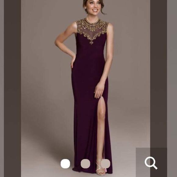 Betsy Adam Dresses Purple And Gold Prom Dress Poshmark